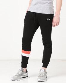 Unruly Colour Block Joggers Black/White/Orange