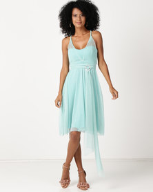 Infinity Dress SA Infinity Dress Knee Length Glitter Mint
