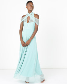 Infinity Dress SA Infinity Dress Evening Length Glitter Mint
