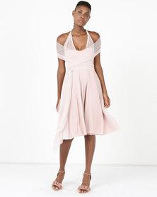 Infinity Dress SA Infinity Dress Knee Length Glitter Blush Pink