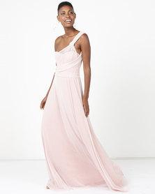 Infinity Dress SA Infinity Dress Extra Length Glitter Blush Pink