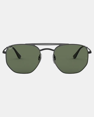 6e2ab1e213 Ray-Ban Square Framed Sunglasses Demi Gloss Black