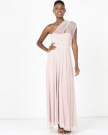 Infinity Dress SA Infinity Dress Evening Length Glitter Blush Pink
