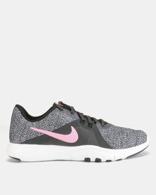 Nike Performance W Flex Trainers 8 Anthracite Sunset/Pulse/Black