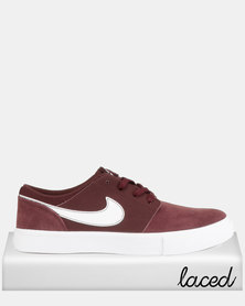 Nike SB Portmore II Solar Sneakers Burgundy Crush/White/Black