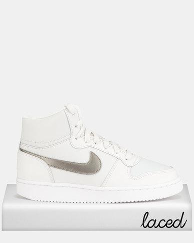 sneakers for cheap cec82 7399b Nike Ebernon Mid Sneakers Platinum Tint White   Zando