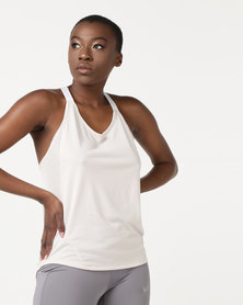 Nike Performance W NK Dry Tank Top Elastka White