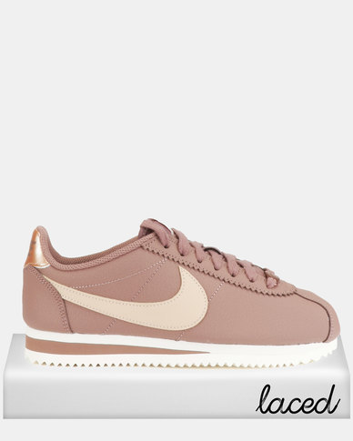 Nike Classic Cortez Leather Sneakers Smokey Mauve/Beige