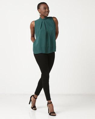 20934698f4775b Utopia Sleeveless Georgette Top Emerald Green