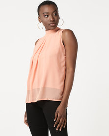 Utopia Sleeveless Georgette Top Blush