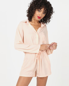 Utopia Viscose Playsuit Pink