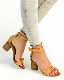Jeffrey Campbell Purdy Bow Sandals Tan