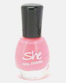 She Cosmetics and Fragrances She Make Up Nail Enamel 201 Pink