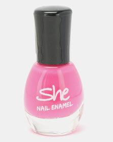 She Cosmetics and Fragrances She Make Up Nail Enamel 204 Pink