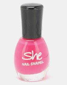 She Cosmetics and Fragrances She Make Up Nail Enamel 205 Pink
