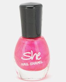 She Cosmetics and Fragrances She Make Up Nail Enamel 206 Pink