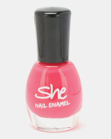 She Cosmetics and Fragrances She Make Up Nail Enamel 207 Pink