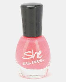 She Cosmetics and Fragrances She Make Up Nail Enamel 210 Pink