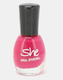 She Cosmetics and Fragrances Make Up Nail Enamel 217 Pink