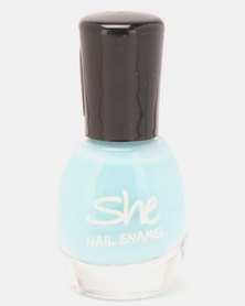 She Cosmetics and Fragrances Make Up Nail Enamel 304 Blue