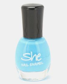 She Cosmetics and Fragrances She Make Up Nail Enamel 305 Blue
