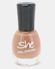 She Cosmetics and Fragrances She Make Up Nail Enamel 400 Brown
