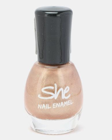 She Cosmetics and Fragrances She Make Up Nail Enamel 401 Gold