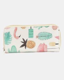 Lily & Rose Safari Print Wallet Multi