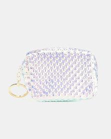 Lily & Rose Shimmer Studded Effect Keyring Bag Green