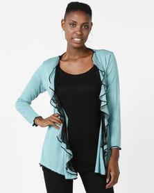 UB Creative Frill Jacket Turquoise