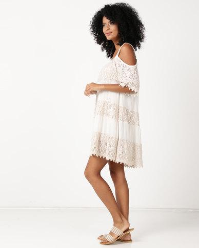 UB Creative Lace Sequin Dress Stone