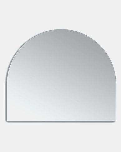 Native Decor Birch Frameless Dome Mirror Medium Silver