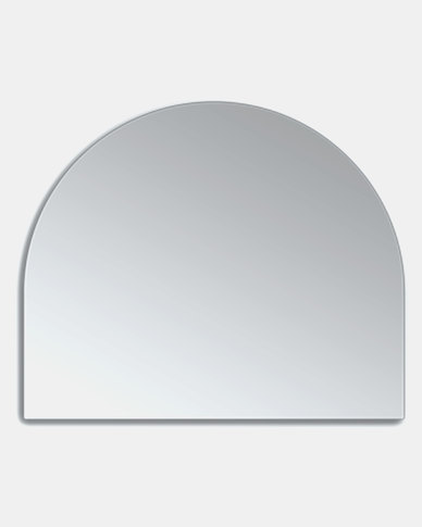 Native Decor Birch Frameless Dome Mirror Large Silver
