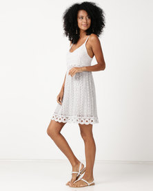 UB Creative Cotton Lace Cammie Dress Grey