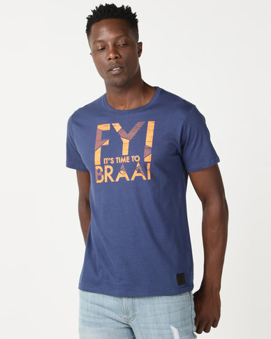 Lizzard Lonan Tee Twilight Blue