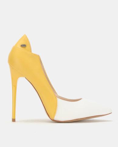 Miss Black Carida Heel Courts Yellow