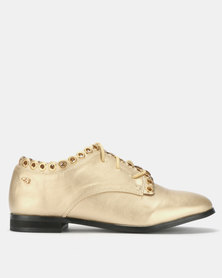 Miss Black Daniella Flats Gold