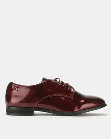 Miss Black Xylon Flats Burgundy