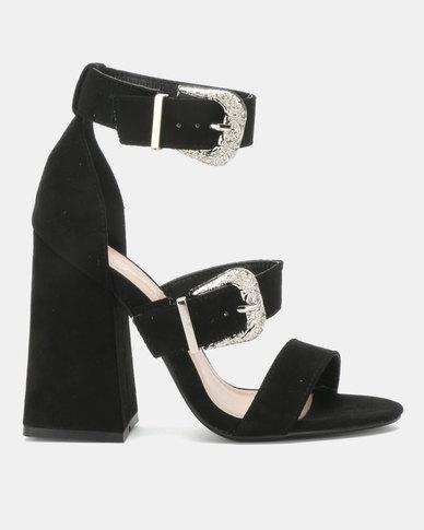 Miss Black Lavanda Block Heels Black
