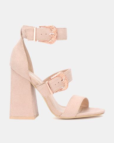 Miss Black Lavanda Block Heels Pink