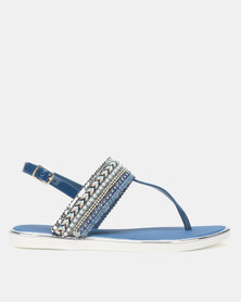 Miss Black Bruella Sandals Blue