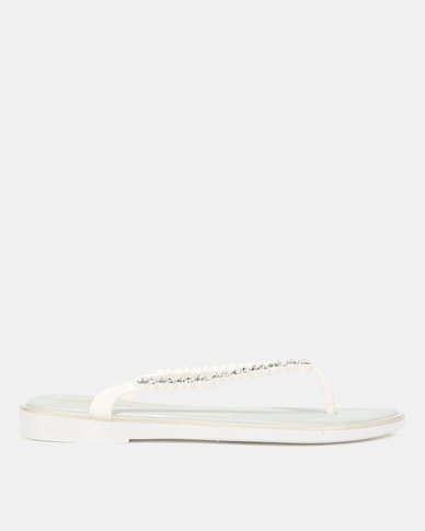 Miss Black Catherine Sandals White