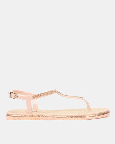 Miss Black Peria Sandals Nude
