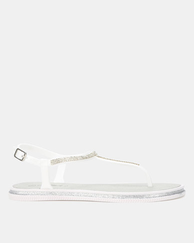 Miss Black Peria Sandals White