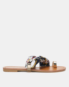 Miss Black Kalie Sandals Navy
