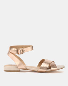Butterfly Feet Enid Sandals Champagne