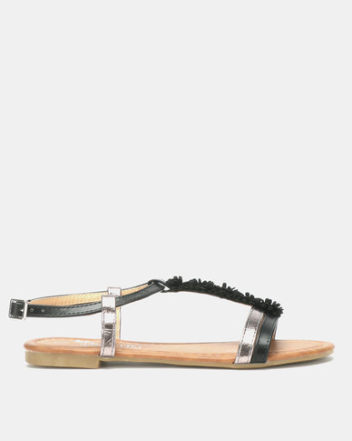 Butterfly Feet Farial Sandals Black