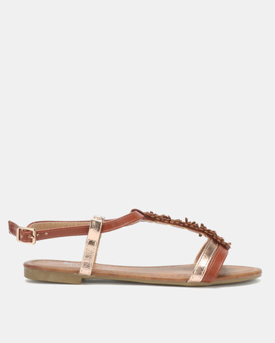 Butterfly Feet Farial Sandals Tan
