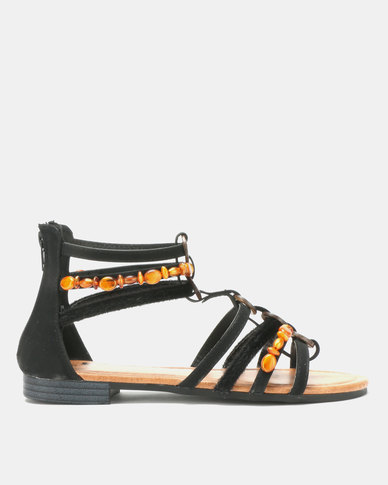 Butterfly Feet Hana Sandals Black