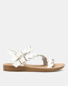 Butterfly Feet Holard Sandals White